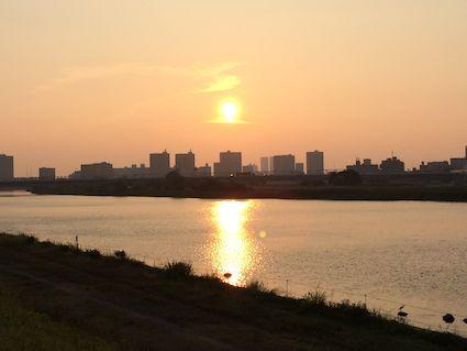 Tamagawa_sunset